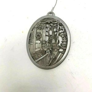 Christmas On The front Porch Pewter Ornament 1993